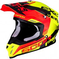 Scorpion VX 16 AIR ARHUS cross helmet Neon Yellow Neon Red