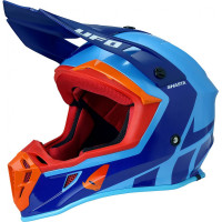 Ufo Plast Quiver Shasta cross helmet Blue Red