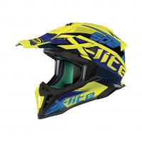 X-Lite X-502 RESISTENCIA off road helmet fiber Yellow Led Blue