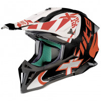 X-Lite X-502 Ultra Carbon XTREM off road helmet White Red
