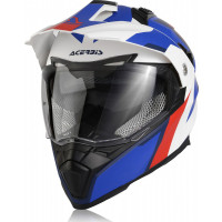 Acerbis Flip Fs-606 full face helmet White Blue Red