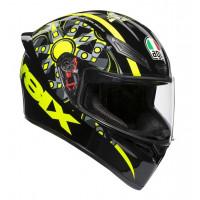 AGV K1 E2205 TOP FLAVUM 46 full face helmet Black Yellow