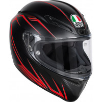 Agv Race Veloce S Multi Predatore matt black red Pinlock full face helmet