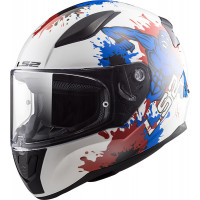LS2 FF353 RAPID MINI MONSTER full face kid helmet Bianco Blu