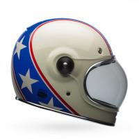Bell full face helmet Bullit Chemical Candy fiber blue white