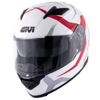 Givi full face helmet 50.5F Tridion Vortix gloss white red