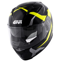 Givi full face helmet 50.5F Tridion Vortix gloss black fluo yellow