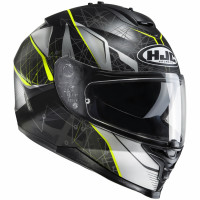 HJC IS-17 DAUGAVA full face helmet MC4HSF Black fluo Yellow