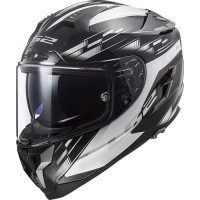 LS2 FF327 CHALLENGER GP BLACK WHITE full face helmet