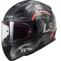LS2 FF353 RAPID CIRCLE full face helmet MATT TITANIUM FLUO ORANGE