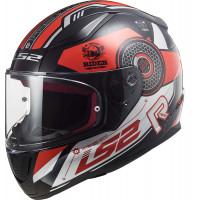 LS2 FF353 RAPID STRATUS GLOSS BLACK RED SILVER full face helmet