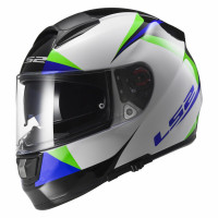 Casco integrale LS2 FF397 Vector Labyrinth Bianco Verde