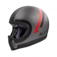 Premier MX DO17 BM full face helmet matt black red