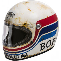 Premier TROPHY BTR 8 BM full face helmet fiber White Matt Red Blue