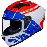SMK Stellar SQAD full face helmet White Blue Red
