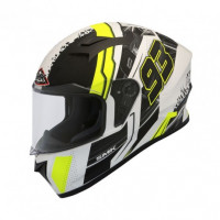 SMK Stellar Swank full face helmet Yellow White Black