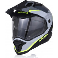 Acerbis REACTIVE GRAFFIX fiber touring full face helmet Black Grey