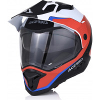 Acerbis REACTIVE GRAFFIX fiber touring full face helmet Red White Black