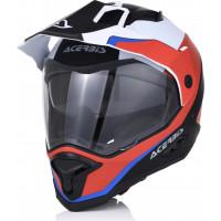 Acerbis REACTIVE GRAFFIX fiber touring full face helmet Red White Black