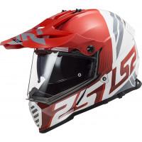 LS2 MX436 PIONEER EVO EVOLVE full face touring helmet RED WHITE