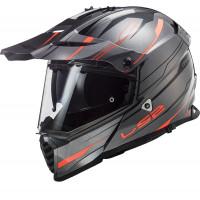 LS2 MX436 PIONEER EVO KNIGHT full face touring helmet TITANIUM FLUO ORANGE