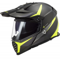 LS2 MX436 PIONEER EVO ROUTER full face touring helmet MATT BLACK HiVis YELLOW