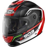 X-Lite X-903 Ultra Carbon CAVALCADE N-COM full face helmet fiber Black Red White with DD