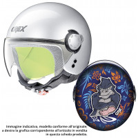 Grex G1.1 FANCY kid jet helmet GORILLA Blue