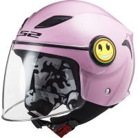 LS2 OF602 FUNNY GLOSS PINK kid jet helmet