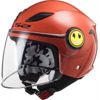 LS2 OF602 FUNNY GLOSS RED kid jet helmet