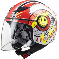 LS2 OF602 FUNNY SLUCH RED WHITE kid jet helmet
