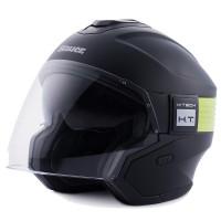 Blauer Hacker BTR jet helmet Black Black Neo Yellow