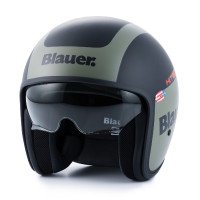 Blauer jet helmet Pilot 1.1 graphic G fiber matt black green