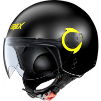 Grex G3.1 E COUPLÉ jet helmet Matt black Yellow