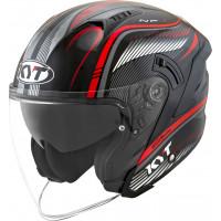 kyt NF-J RADAR jet helmet Red