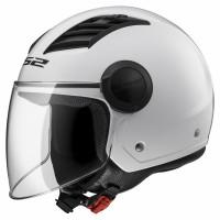 LS2 OF562 Airflow L jet helmet White