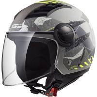LS2 OF562 AIRFLOW L CAMO jet helmet MATT Titanio Giallo