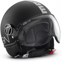 Momo Design jet helmet Fighter Classic matt black silver