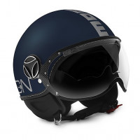 Momo Design Fighter Evo jet helmet Matt Blue Silver