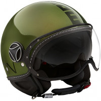 Momo Design Fighter EVO jet helmet Glossy Green Black