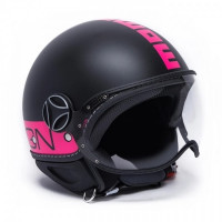 Jet helmet Momo Design Fighter Fluo Matt Black Fluo