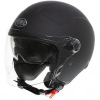 Premier ROCKER VISOR U9BM jet helmet double visor Matt Black