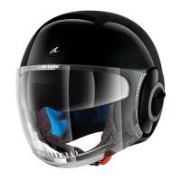Dual Visor Motorcycle Helmet Jet Shark Nano Blank Black
