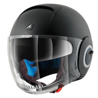 Dual Visor Motorcycle Helmet Jet Shark Nano Blank Matt Black