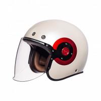 SMK Eldorado jet helmet White Red