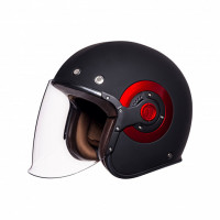 SMK Eldorado jet helmet Black Red