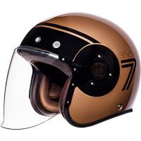 SMK Eldorado SEVEN jet helmet Bronze Black