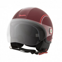 Vespa Modernist jet helmet Matt Red