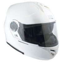 CGM Dubai 504A open face Helmet Metal White