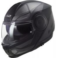 LS2 FF902 SCOPE AXIS flip up helmet BLACK TITANIUM